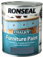 Ronseal Chalky Furniture Paint 750ml - Midnight Blue